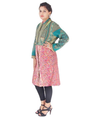 femmes par Veste de rassemblement main fait de Kantha indien manteau piquées de q68A1qv