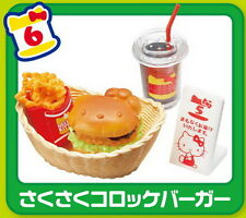 Re-Ment Miniature Restaurant Fast Food Hello Kitty Burger Shop rement RARE No.06