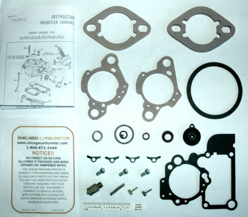 """1968-76 CARB KIT ROCHESTER 1 BARREL CHEVY CHEVROLET 230/"""" 250/"""" ENGINES NEW"""