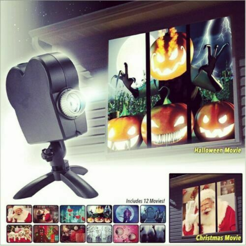 Halloween-Weihnachtswunderland-Feiertags-Festival-Fenster-Projektor-Projektions