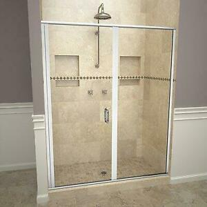 Tile Redi 1200 Series Swing 47 x 72.13 Hinged Semi-Frameless Shower Door Anniversary Sale (Up to 60% Off) Canada Preview