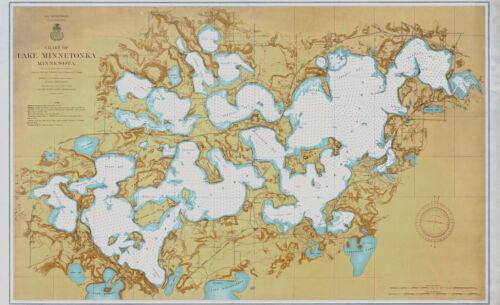 1906 Nautical Map of Lake Minnetonka Minnesota