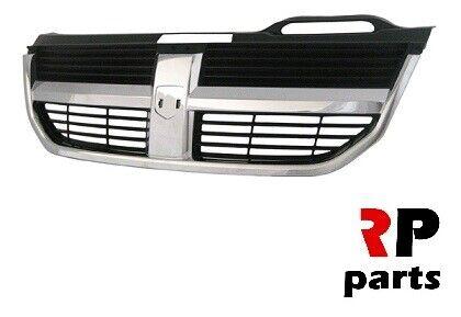 Para Dodge Journey 07-11 nuevo centro superior Parachoques Delantero Parrilla Cromo Negro