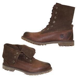 Timberland-Authentics-Roll-Top-Botas-botines-botas-de-cordon-a116t