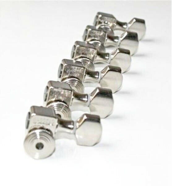 Sperzel Tri ok 6 In Line Locking Guitar Tuners Trim-lok CHROME Tuning Heads