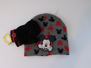 5ff7467d2a0c0 Disney Mickey Mouse Toddler Boys Girls Warm Winter Hat and Mitten ...