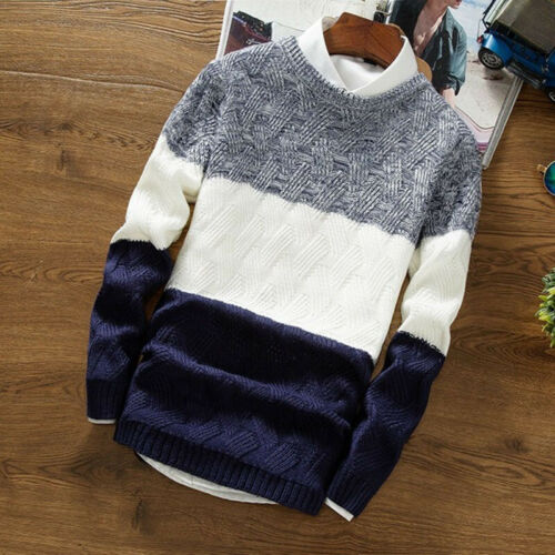 Men Cardigan Jacket Jumper Knit Pullover Coat Long Sleeve Sweater Size M~2XL