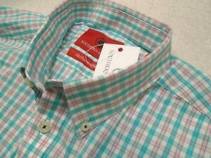 Southern-Proper-Stretch-Cotton-Moesley-Gingham-Check-Sport-Shirt-NWT-XL-98