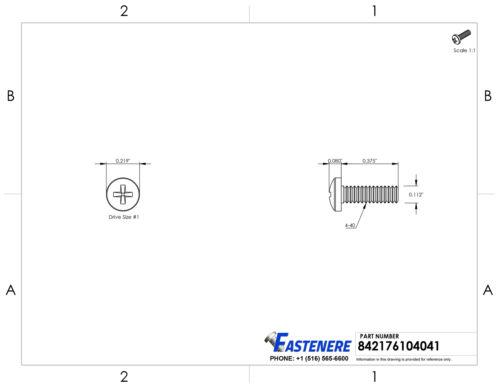 "4-40 x 3//8/"" Pan Head Machine Screws Stainless Steel 18-8 Qty 500"