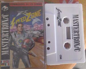 Speedzone-Commodore-C64-Kassette-Box-Manual-Tape-100-ok-Mastertronic