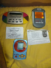 Lot of 3 electronic hand held game Battleship Trivial Pursuit, Bicycle