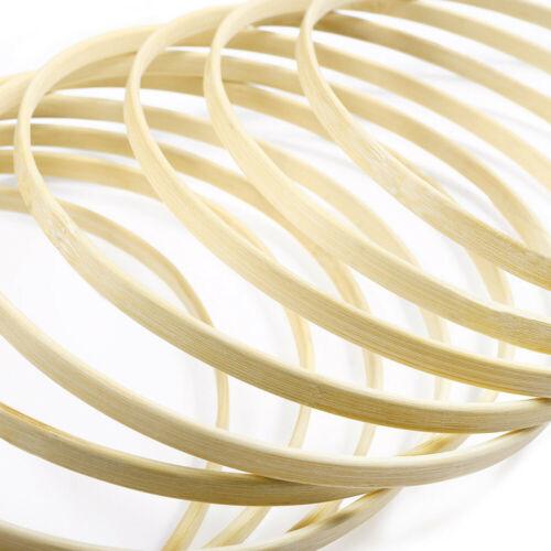 10pcs Diameter 20cm Dream Catcher Ring Round Wooden Bamboo DIY Hoop