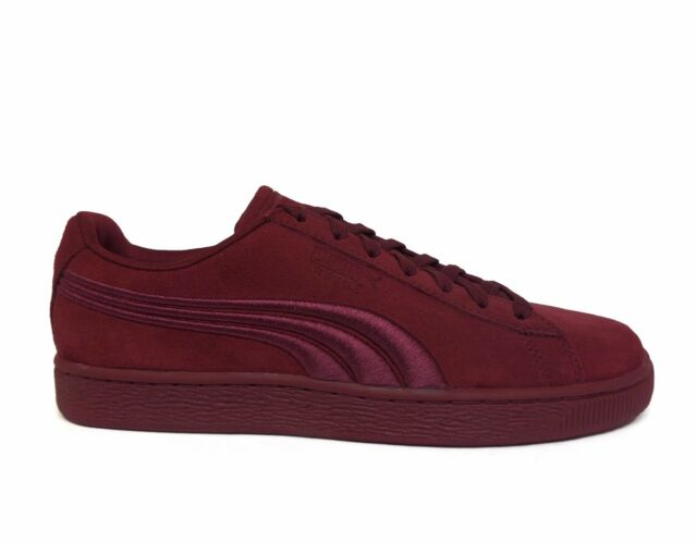 PUMA Classic Badge Mens Burgundy Suede Lace up SNEAKERS Shoes 9.5 ... 9e8948de0