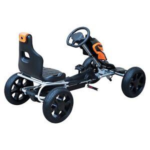 Go-Kart-Racing-Deportivo-Coche-de-Pedales-para-Ninos-5-Anos-Asiento-Ajustable