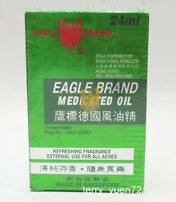 Eagle Brand Medicated Oil 鷹標德國風油精 Pain Relief Dau Xanh Con O 24ml