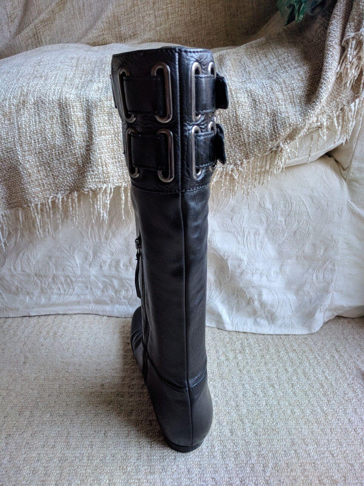 MIU MIU en en en cuir noir à boucle pointure 40 7 avec boite et sac 751ff0