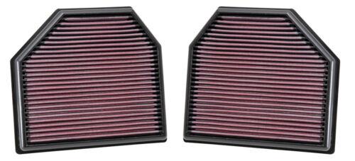 M3 2014-2017 K/&N Filtre à air de remplacement pour BMW 3-Series F30//F31//F80
