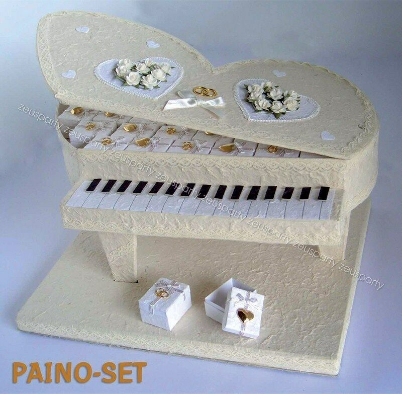 Port mariage faveurs piano conjoints + 30 wedding favors coeurs mariage 012 8841