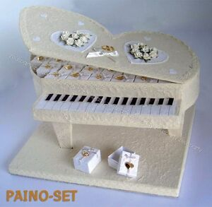 Porta Bomboniere Matrimonio.Dettagli Su Porta Bomboniere Pianoforte Sposi 30 Bomboniere Cuori Matrimonio 012 8841