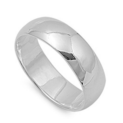 Round Plain Wedding Band SOLID .925 Sterling Silver All sizes 2-16 TOP SELLER!