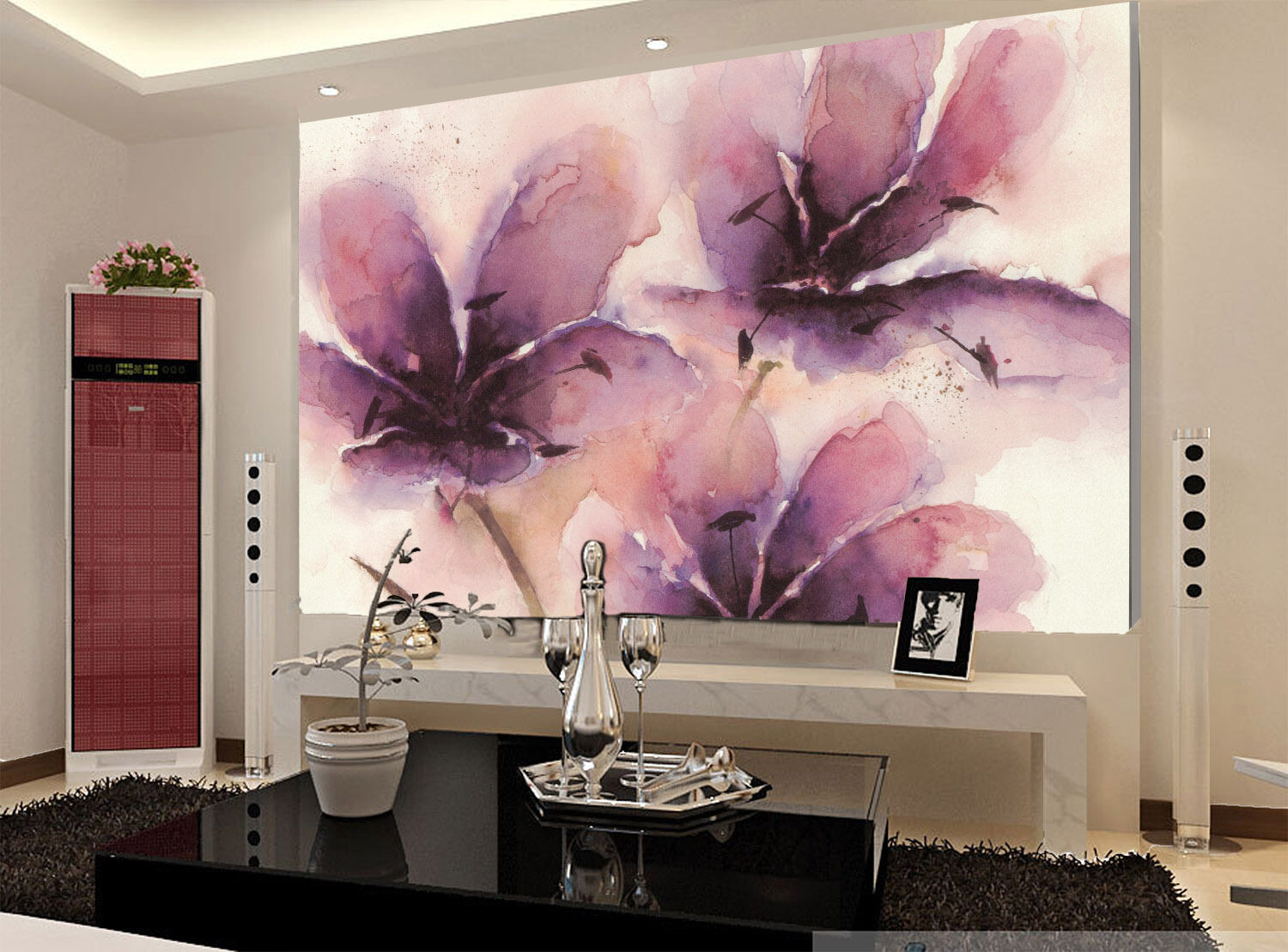 3D Flowers Painting 916 Wall Paper Wall Print Decal Wall Deco Wall Indoor Murals