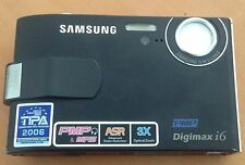 Samsung Digimax I6 6.0 MP Digital Camera - Black - for parts or spares