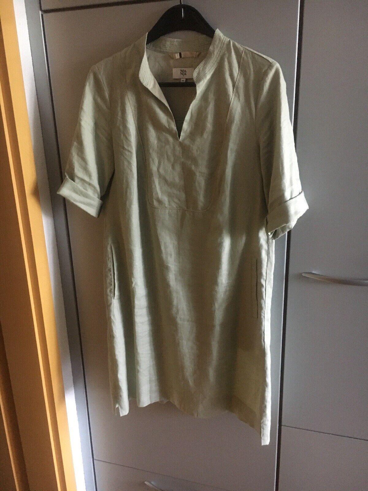 Neuwertiges Leinenkleid NOA NOA Gr. 40 Lindgrün