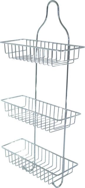 3 Tier Bathroom Caddy Shower Organiser Shelf Hanging Storage Rack Tidy Basket