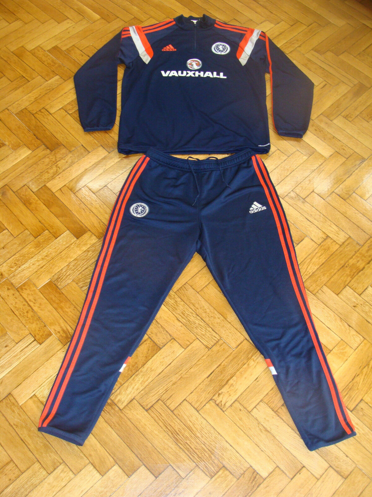 Escocia Fútbol Chándal Pantalones superior Adidas reproductor Usado Traje De Entrenamiento Fútbol