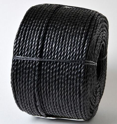 14MM 'EVERLASTO' BLACK POLYPROPYLENE POLYROPE POLY ROPE VARIOUS LENGTHS