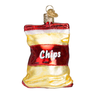 034-Bag-of-Chips-034-32154-X-Old-World-Christmas-Glass-Ornament-w-OWC-Box