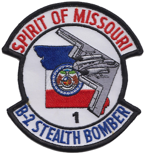 USAF B-2 Stealth Bomber Spirit of Missouri Embroidered Patch LAST FEW