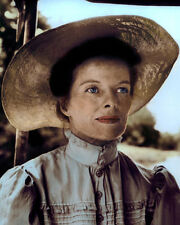 """KATHARINE HEPBURN THE AFRICAN QUEEN 1951 ACTRESS 8x10"""" HAND COLOR TINTED PHOTO"""