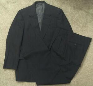 Vintage Austin Reed Blue Pin Striped Suit Sz 39r Actwu Union Made In Usa Ebay