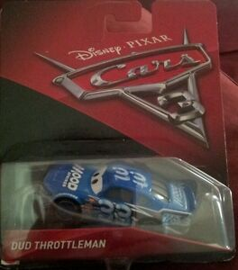 Nouveau Disney Pixar Cars 3 Dud Throttleman Race Car Diecast Metal 1:55 Scale 33
