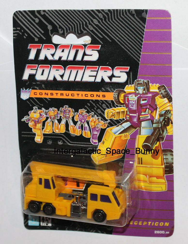 1991 transformadores constructicones G2 europeo Reino Unido Hasbro ReColoreee Gancho menta en tarjeta