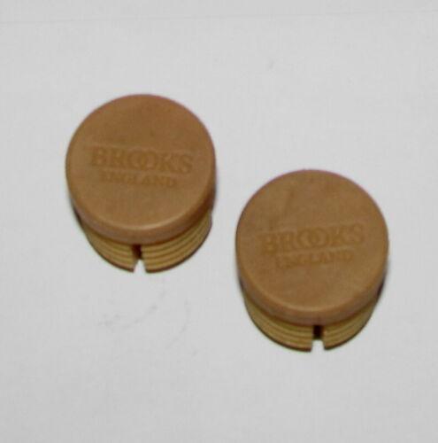 New Brooks Tan Light Brown Rubber Handlebar Bar End Plugs