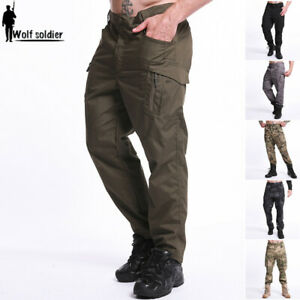 Mens-Military-Cargo-Pants-Army-Tactical-Combat-Casual-Trousers-Hiking-Camouflage