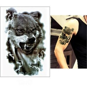Temporaeres-Tattoo-Wolf-Wald-Design-Klebetattoo-Koerperkunt