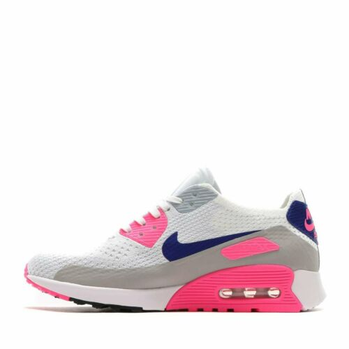 Original Nike Air Max 90 Ultra Flyknit White  Pink Black Trainers 881109 101