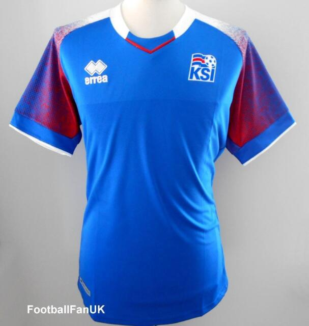 3d4d973f6 ICELAND Official Errea Men s Home Football Shirt 2018-2019 New Jersey  Island KSI