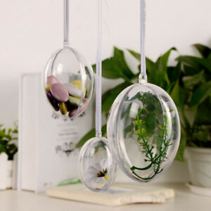 10-x-Clear-Plastic-Egg-Bath-Bomb-Mould-Mold-Christmas-Ball-Fillable-Candy-Boxes
