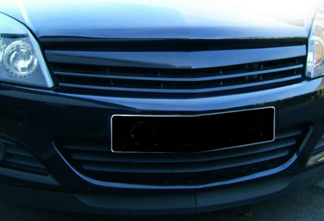 VAUXHALL OPEL ASTRA H MK5 3 DOOR SPORTS GRILLE PLAIN BLACK DE BADGED GRILL NEW