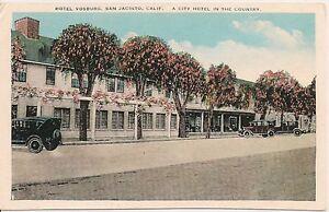 Hotel Vosburg San Jacinto Ca Postcard Ebay