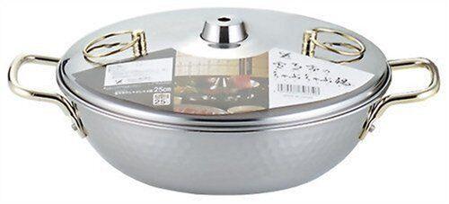 Japanese Stainless Steel Shabu Shabu Nabe Hot Pot 25cm SH9334 Made in JAPAN