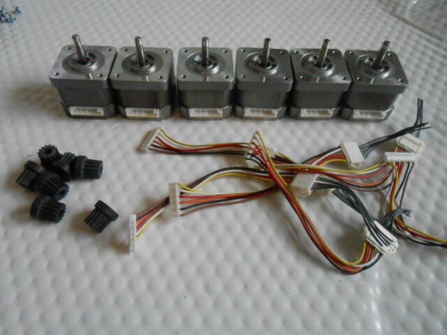 6 X Stepper motors NEMA 17 - 51oz/in CNC ROUTER ROBOT REPRAP MAKERBOT Prusa GT3