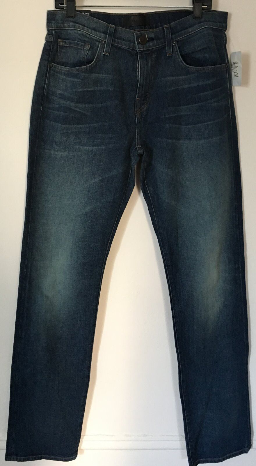 J Brand New Mens Jeans Cole Relaxed Straight Leg Dark bluee Wash Sz 32 x 34
