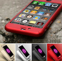 NEW HYBRID 360° HARD ULTRA THIN CASE + TEMPERED GLASS COVER FOR IPHONE 5 6 7 7+