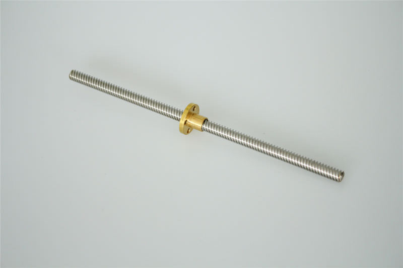 Lead screw pitch 2mm lead 8mm L-200mm linear shaft+nut housing+couper+KP08 SK8
