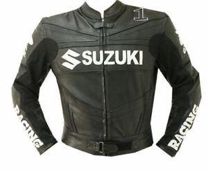 Details about Suzuki Motorrad Lederjacke Biker Sport Herren Leder Jacken MotorcycleJacket